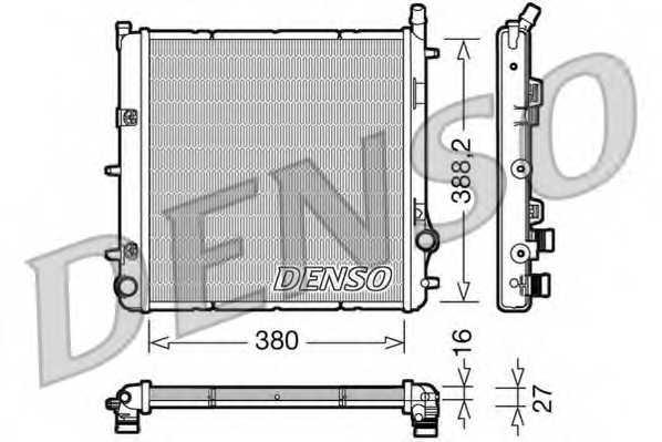 Радиатор охлаждения двигателя DENSO DRM21005 - изображение