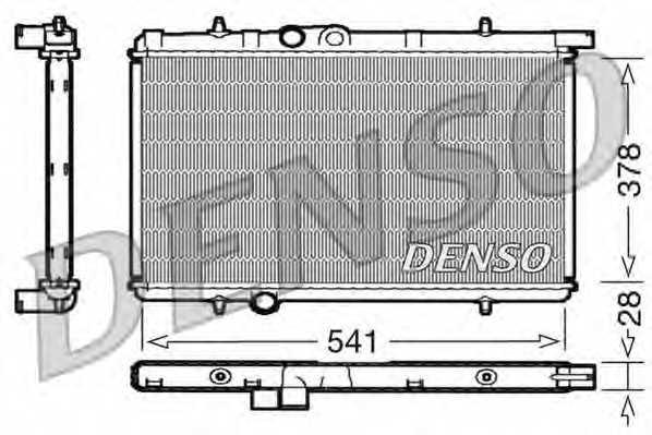 Радиатор охлаждения двигателя DENSO DRM21021 - изображение