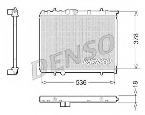 Радиатор охлаждения двигателя DENSO DRM21034 - изображение