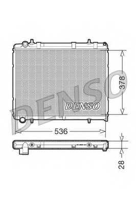 Радиатор охлаждения двигателя DENSO DRM21035 - изображение