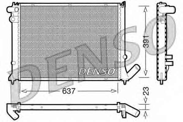 Радиатор охлаждения двигателя DENSO DRM21050 - изображение