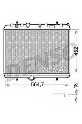 Радиатор охлаждения двигателя DENSO DRM21055 - изображение