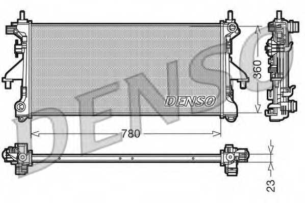 Радиатор охлаждения двигателя DENSO DRM21100 - изображение