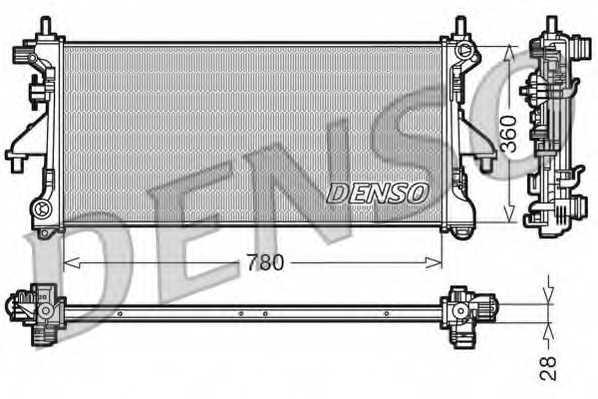 Радиатор охлаждения двигателя DENSO DRM21101 - изображение