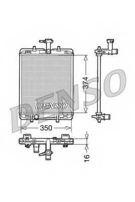 Радиатор охлаждения двигателя DENSO DRM21602 - изображение