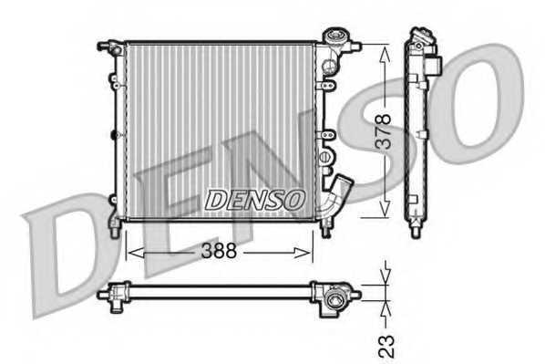 Радиатор охлаждения двигателя DENSO DRM23002 - изображение