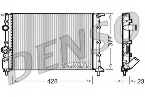Радиатор охлаждения двигателя DENSO DRM23008 - изображение