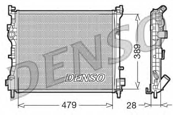 Радиатор охлаждения двигателя DENSO DRM23016 - изображение