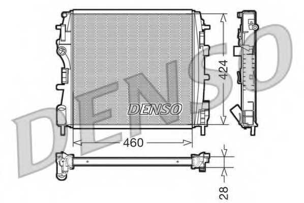 Радиатор охлаждения двигателя DENSO DRM23019 - изображение