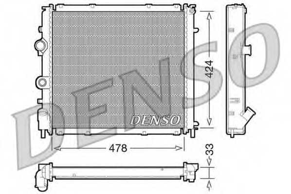 Радиатор охлаждения двигателя DENSO DRM23030 - изображение