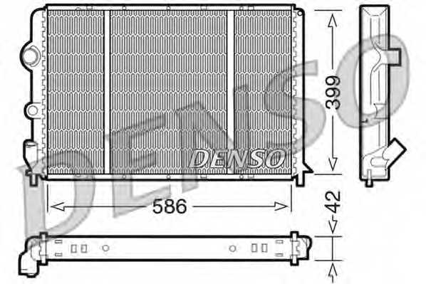 Радиатор охлаждения двигателя DENSO DRM23051 - изображение