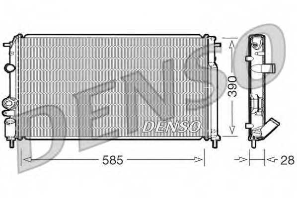 Радиатор охлаждения двигателя DENSO DRM23052 - изображение