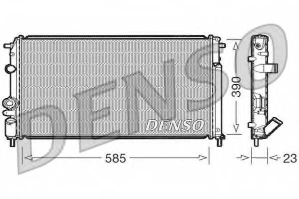 Радиатор охлаждения двигателя DENSO DRM23053 - изображение