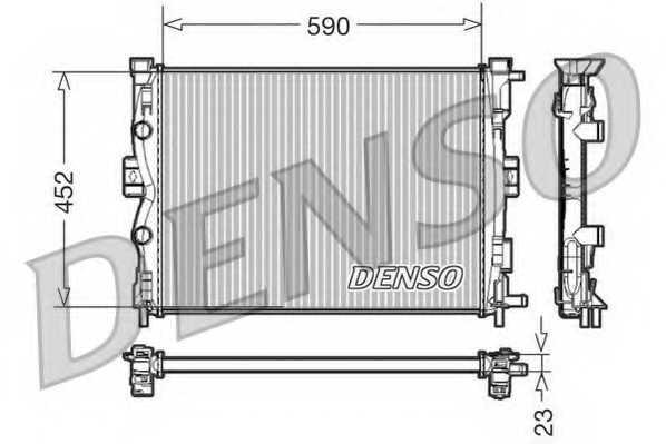 Радиатор охлаждения двигателя DENSO DRM23055 - изображение