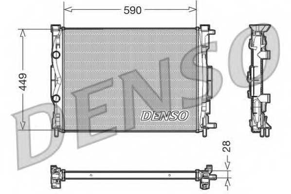 Радиатор охлаждения двигателя DENSO DRM23056 - изображение