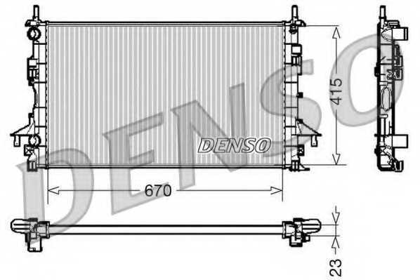 Радиатор охлаждения двигателя DENSO DRM23083 - изображение