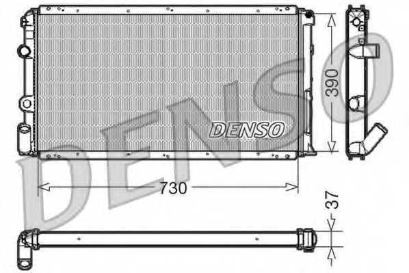 Радиатор охлаждения двигателя DENSO DRM23091 - изображение