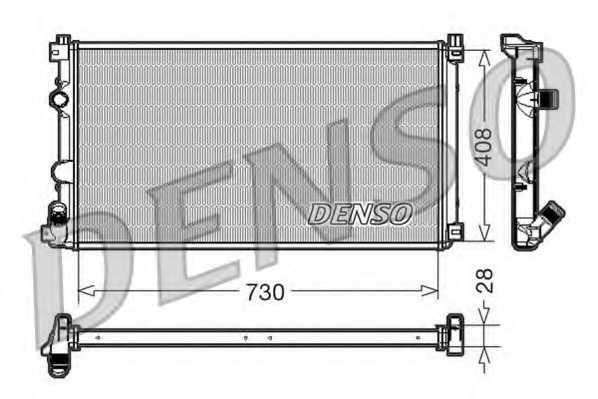 Радиатор охлаждения двигателя DENSO DRM23092 - изображение
