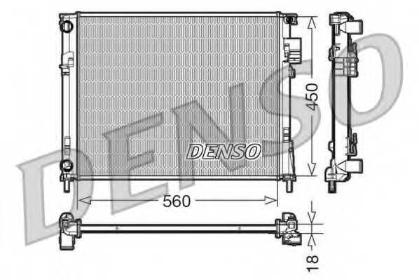 Радиатор охлаждения двигателя DENSO DRM23095 - изображение