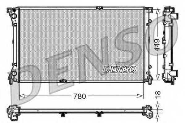 Радиатор охлаждения двигателя DENSO DRM23097 - изображение
