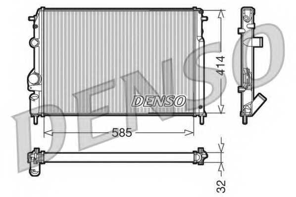 Радиатор охлаждения двигателя DENSO DRM23110 - изображение