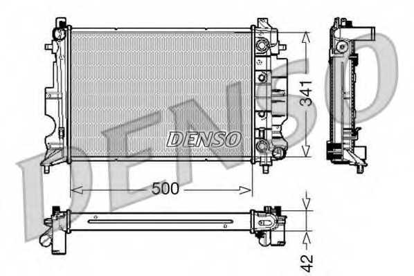 Радиатор охлаждения двигателя DENSO DRM25012 - изображение