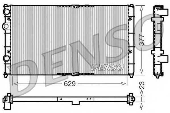 Радиатор охлаждения двигателя DENSO DRM26040 - изображение