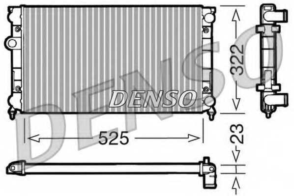 Радиатор охлаждения двигателя DENSO DRM32006 - изображение