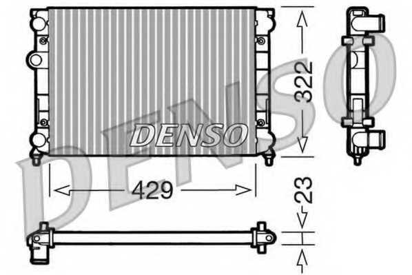 Радиатор охлаждения двигателя DENSO DRM32007 - изображение
