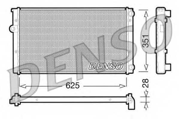 Радиатор охлаждения двигателя DENSO DRM32009 - изображение