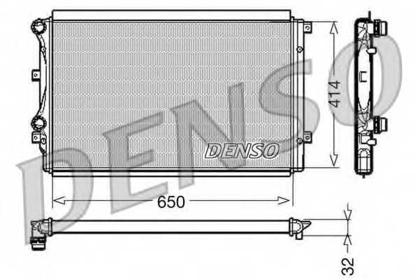 Радиатор охлаждения двигателя DENSO DRM32015 - изображение