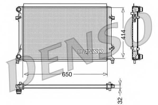 Радиатор охлаждения двигателя DENSO DRM32016 - изображение
