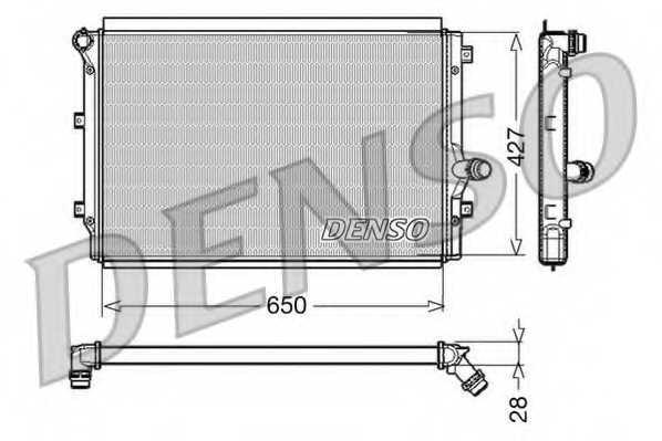 Радиатор охлаждения двигателя DENSO DRM32017 - изображение