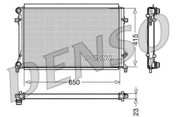 Радиатор охлаждения двигателя DENSO DRM32018 - изображение