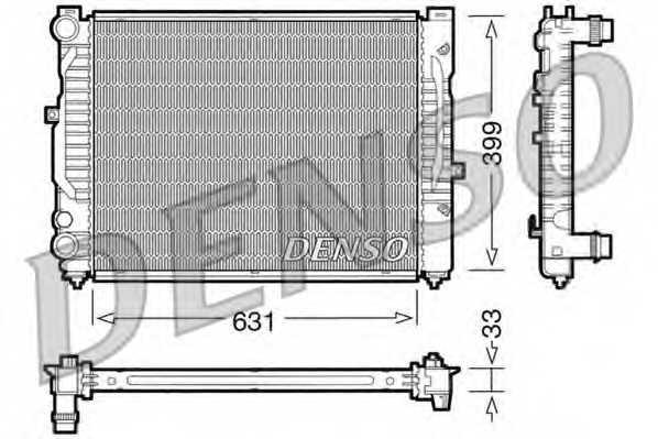Радиатор охлаждения двигателя DENSO DRM32029 - изображение