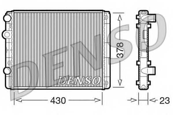 Радиатор охлаждения двигателя DENSO DRM32030 - изображение