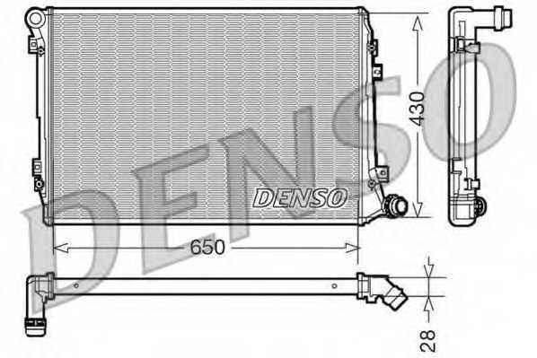Радиатор охлаждения двигателя DENSO DRM32037 - изображение
