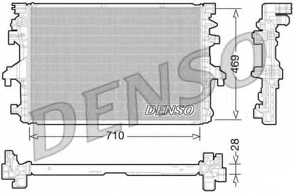 Радиатор охлаждения двигателя DENSO DRM32038 - изображение