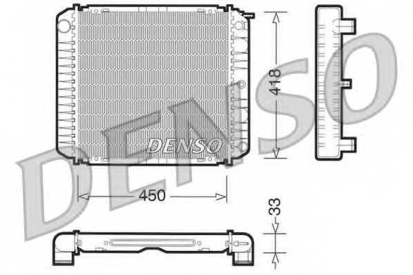 Радиатор охлаждения двигателя DENSO DRM33004 - изображение