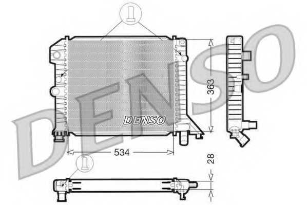 Радиатор охлаждения двигателя DENSO DRM33021 - изображение