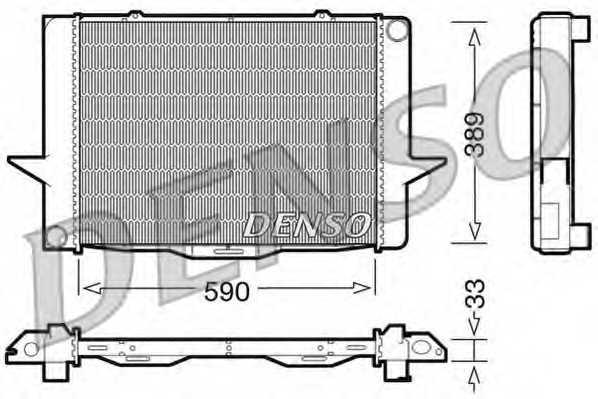 Радиатор охлаждения двигателя DENSO DRM33040 - изображение