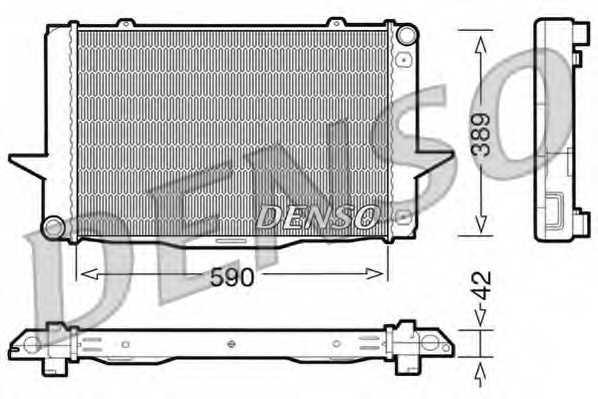 Радиатор охлаждения двигателя DENSO DRM33042 - изображение