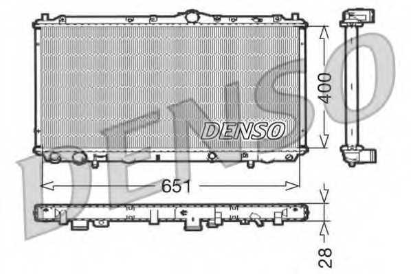 Радиатор охлаждения двигателя DENSO DRM33060 - изображение