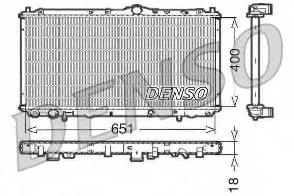 Радиатор охлаждения двигателя DENSO DRM33061 - изображение