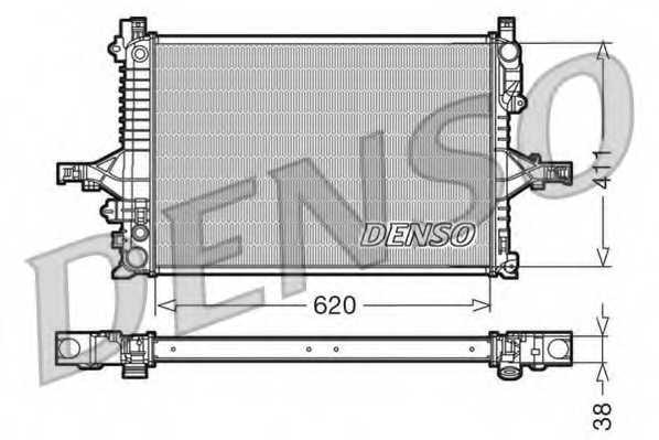 Радиатор охлаждения двигателя DENSO DRM33066 - изображение