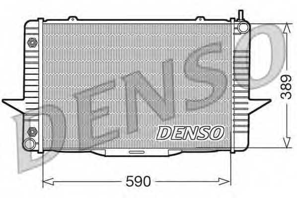 Радиатор охлаждения двигателя DENSO DRM33067 - изображение