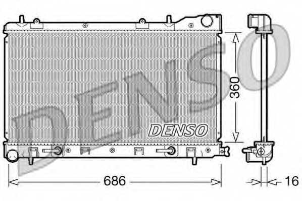 Радиатор охлаждения двигателя DENSO DRM36001 - изображение