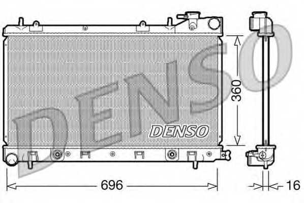 Радиатор охлаждения двигателя DENSO DRM36002 - изображение