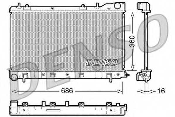 Радиатор охлаждения двигателя DENSO DRM36004 - изображение