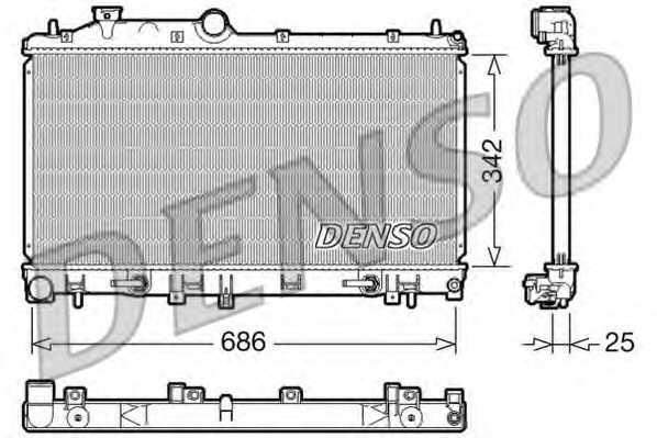 Радиатор охлаждения двигателя DENSO DRM36005 - изображение